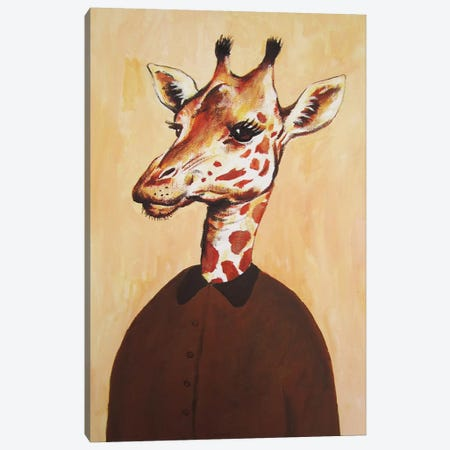 Giraffe Lady Canvas Print #COC45} by Coco de Paris Canvas Art Print
