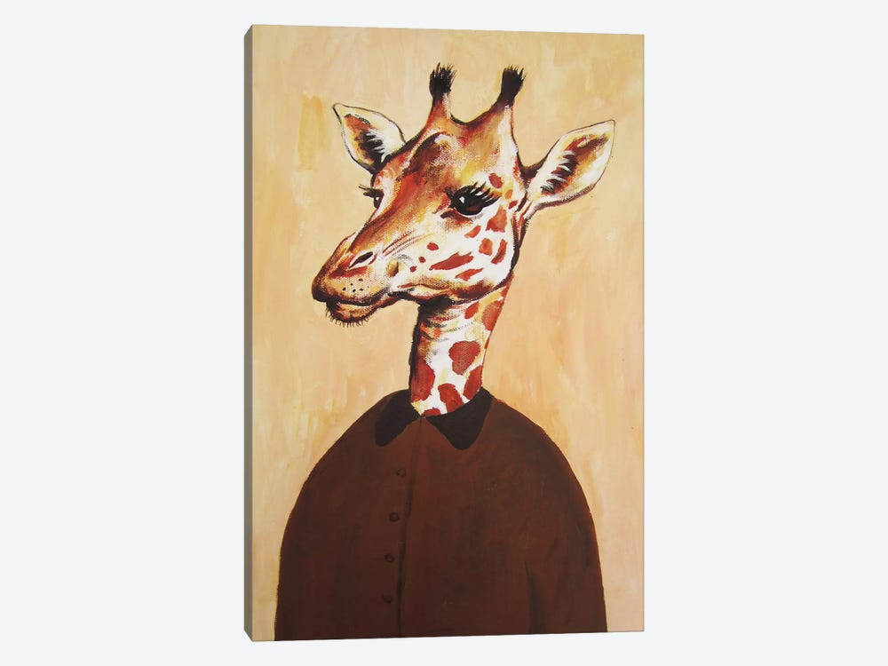 Giraffe Lady by Coco de Paris 1-piece Canvas Print