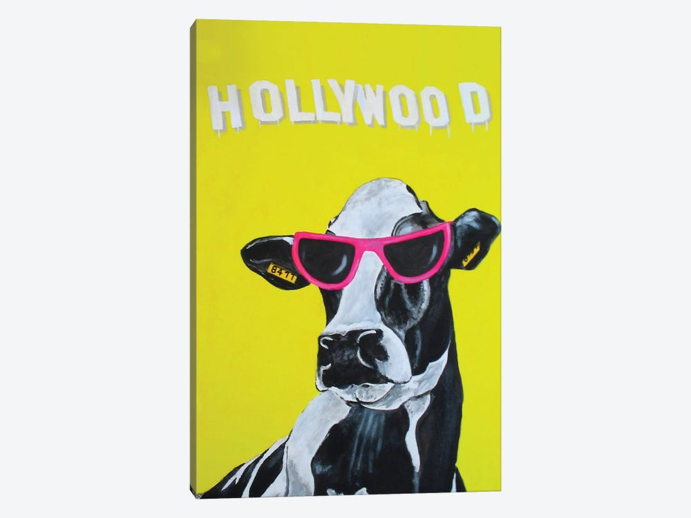 Hollywood Cow by Coco de Paris 1-piece Canvas Art Print