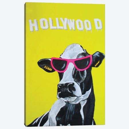 Hollywood Cow Canvas Print #COC49} by Coco de Paris Canvas Wall Art