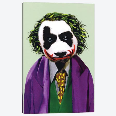 Joker Panda Canvas Print #COC50} by Coco de paris Canvas Print