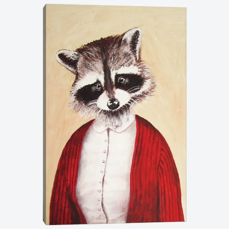 Lady Raccoon Canvas Print #COC51} by Coco de Paris Canvas Art Print