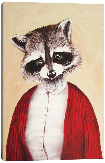 Lady Racoon Canvas Art Print