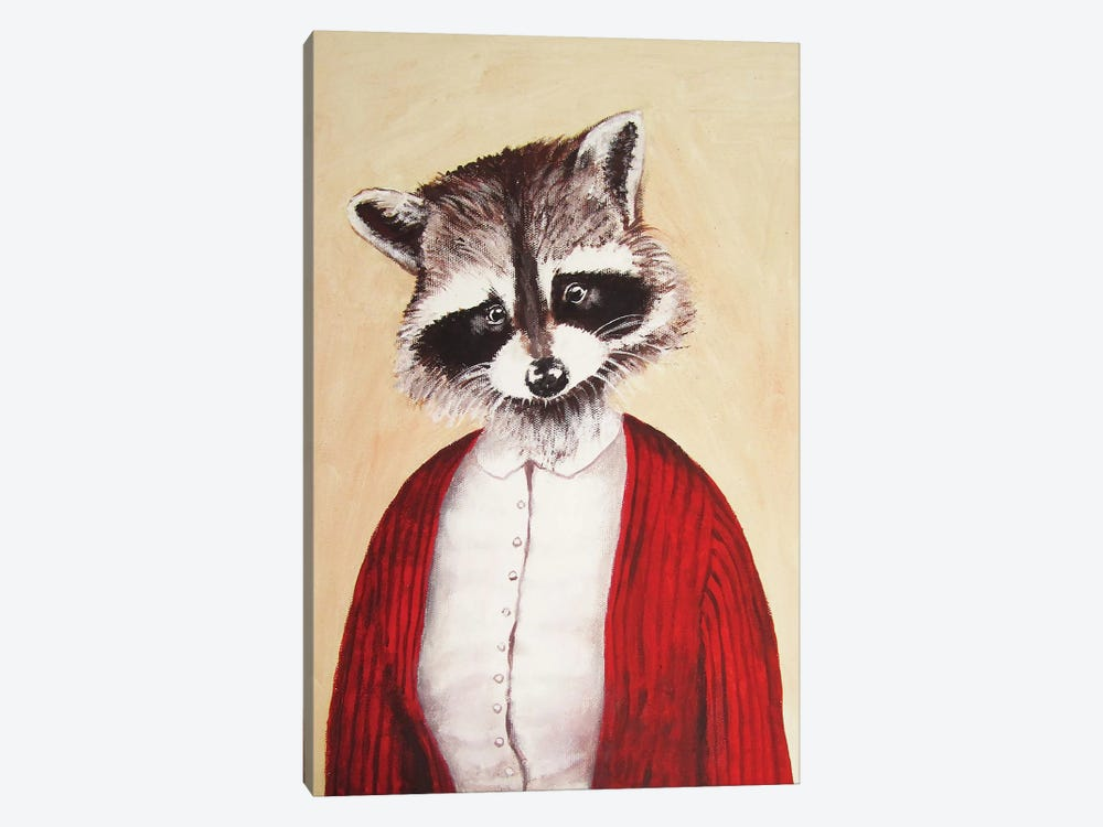 Lady Racoon 1-piece Canvas Artwork
