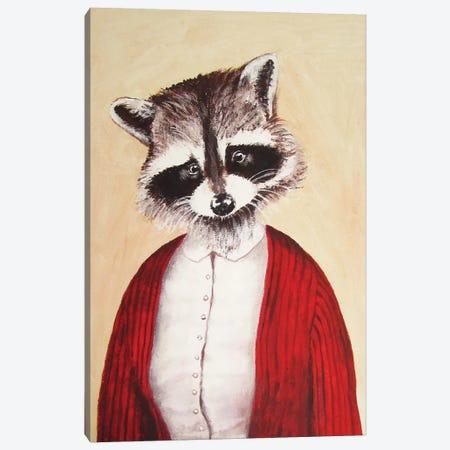 Lady Raccoon Canvas Print #COC51} by Coco de Paris Canvas Art Print