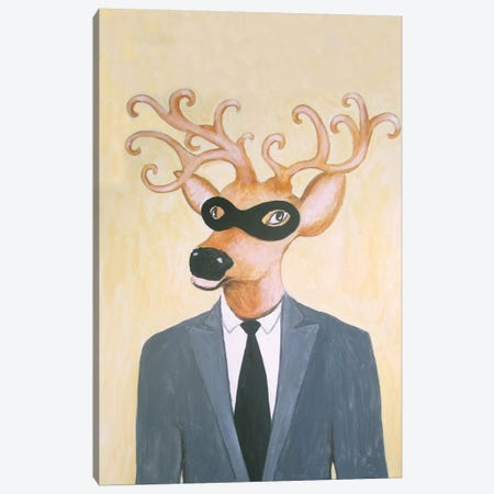 Masked Deer Canvas Print #COC52} by Coco de paris Art Print