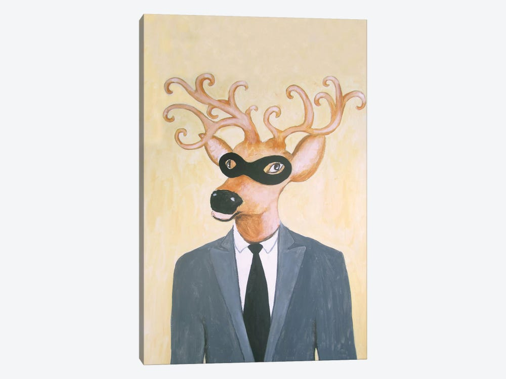 Masked Deer by Coco de Paris 1-piece Canvas Art Print