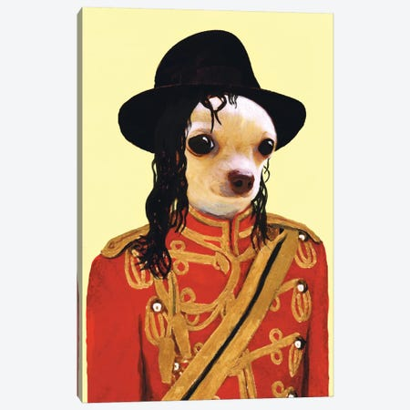 Michael Jackson Chihuahua Canvas Print #COC54} by Coco de Paris Canvas Art
