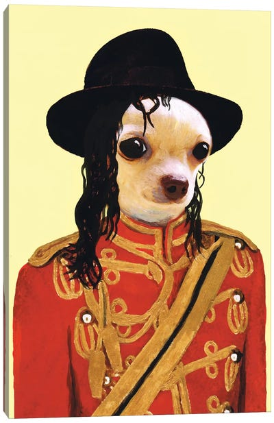 Michael Jackson Chihuahua Canvas Art Print