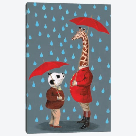 Panda And Giraffe Canvas Print #COC58} by Coco de Paris Canvas Print