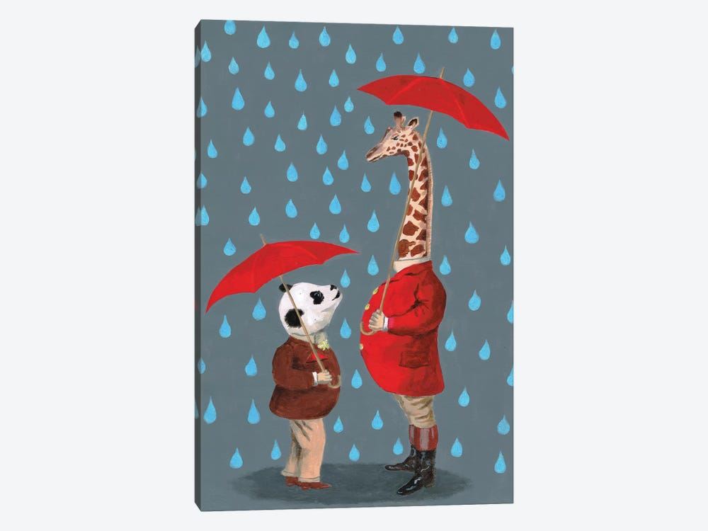 Panda And Giraffe by Coco de paris 1-piece Canvas Art Print