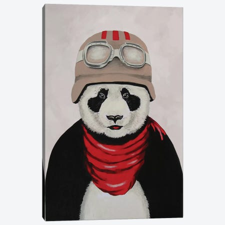 Panda Aviator Canvas Print #COC59} by Coco de Paris Canvas Art Print