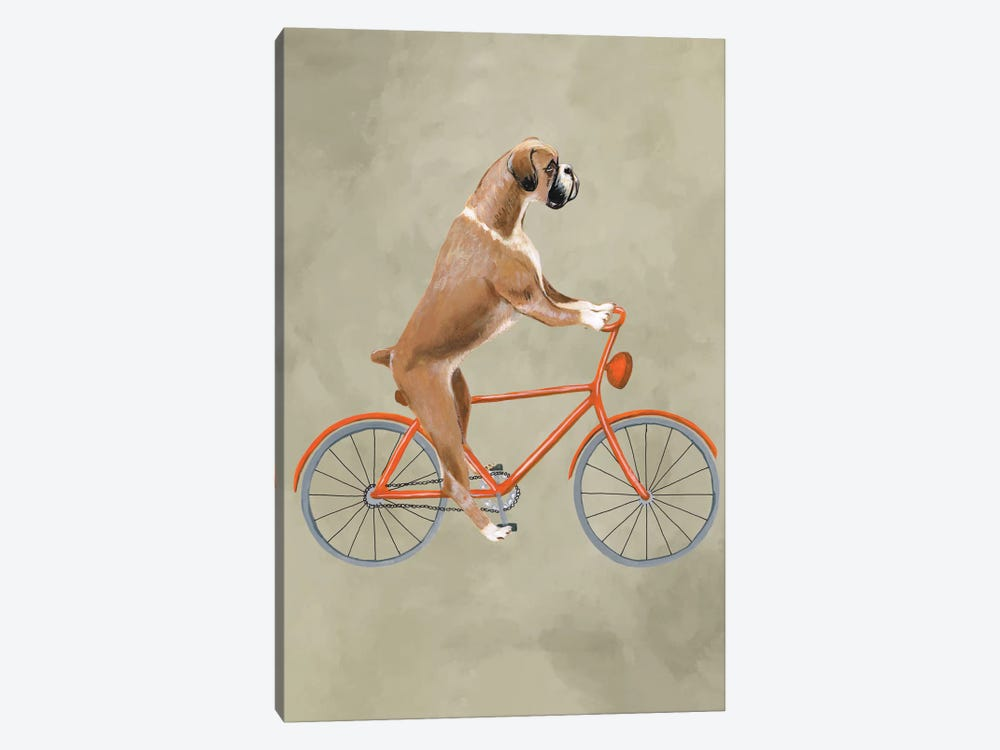 Boxer On Bicycle 1-piece Canvas Art Print