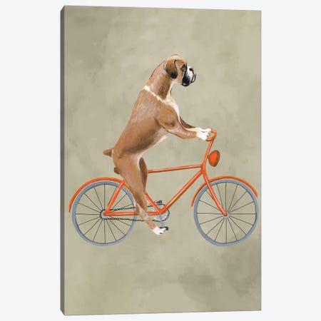 Boxer On Bicycle Canvas Print #COC5} by Coco de Paris Canvas Art