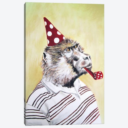 Party Gorilla Canvas Print #COC61} by Coco de Paris Canvas Art