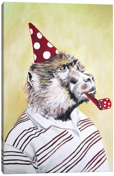 Party Gorilla Canvas Art Print