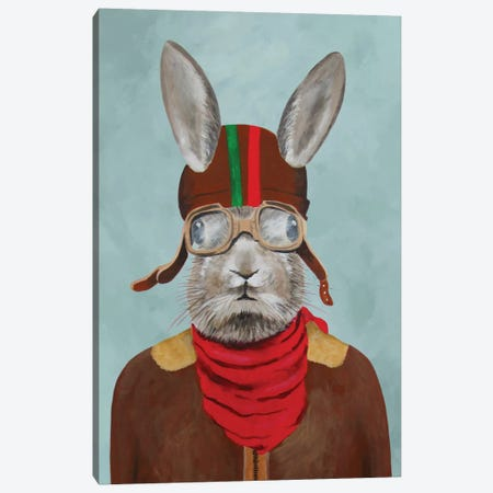 Rabbit Aviator I Canvas Print #COC63} by Coco de Paris Canvas Wall Art