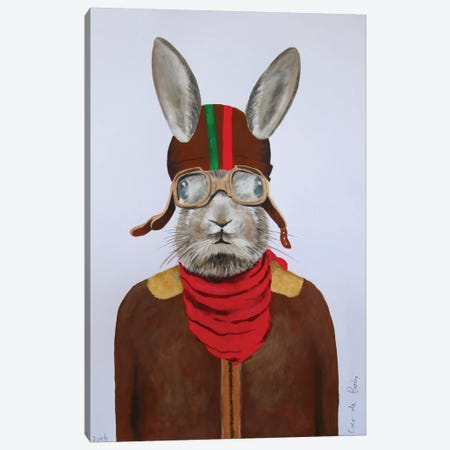 Rabbit Aviator II Canvas Print #COC64} by Coco de Paris Art Print