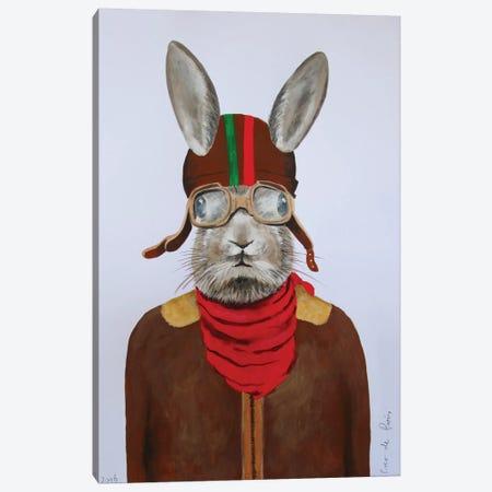 Rabbit Aviator II Canvas Print #COC64} by Coco de Paris Art Print