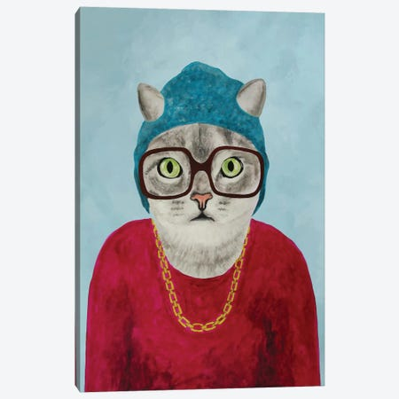 Rapper Cat Canvas Print #COC67} by Coco de Paris Canvas Print