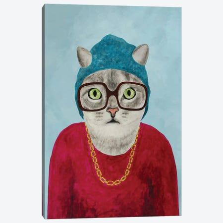 Rapper Cat Canvas Print #COC67} by Coco de Paris Canvas Print