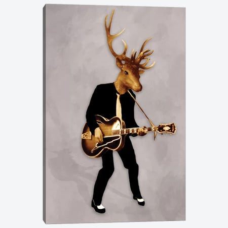 Rockin' Deer Canvas Print #COC68} by Coco de paris Canvas Art