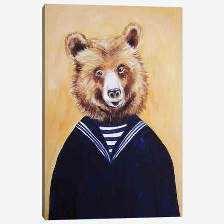 Sailor Bear Canvas Print #COC69} by Coco de Paris Canvas Wall Art