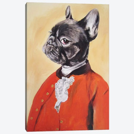 Sir Bulldog Canvas Print #COC71} by Coco de paris Canvas Print