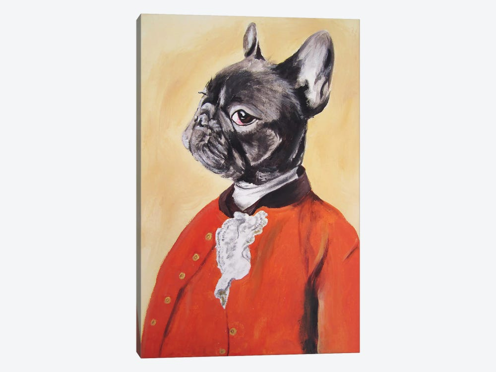 Sir Bulldog 1-piece Canvas Art