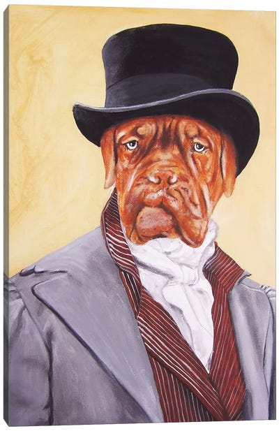 Sir Doge de Bordeaux Canvas Print #COC72