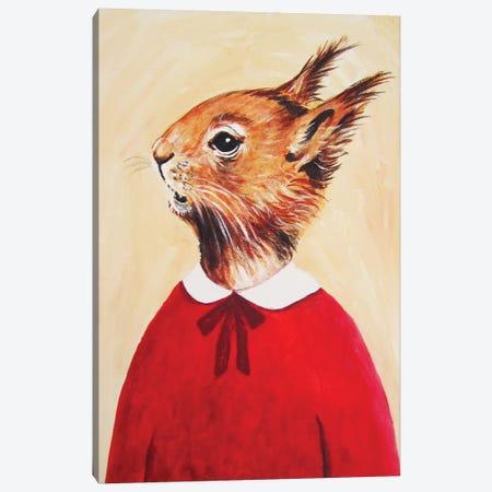 Squirrel Girl Canvas Print #COC75} by Coco de Paris Canvas Artwork