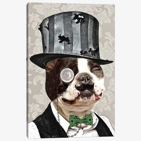 Steampunk Bulldog Canvas Print #COC76} by Coco de paris Canvas Artwork