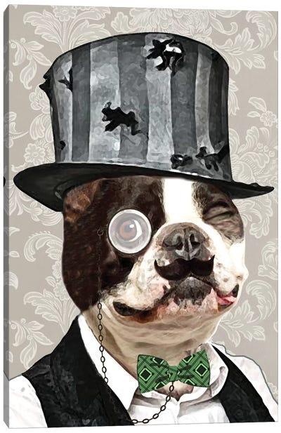 Steampunk Bulldog Canvas Print #COC76