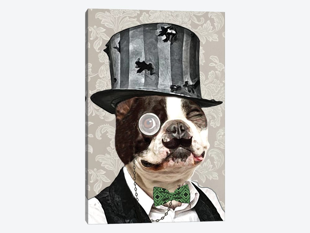 Steampunk Bulldog by Coco de paris 1-piece Canvas Art Print