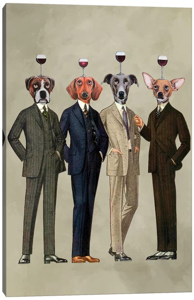 The Wine Club Canvas Art Print