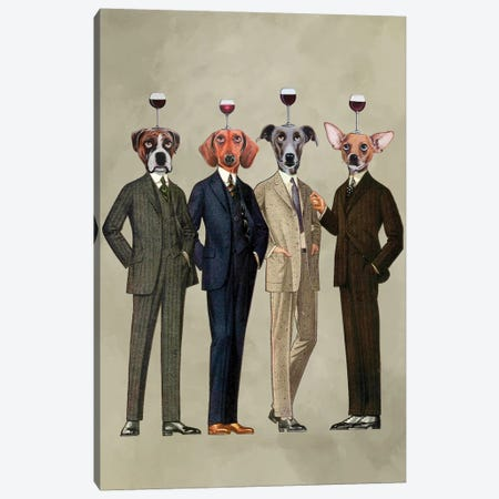 The Wine Club Canvas Print #COC77} by Coco de Paris Canvas Wall Art