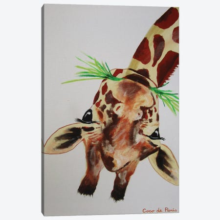 Upside Down Giraffe Canvas Print #COC78} by Coco de paris Canvas Art Print