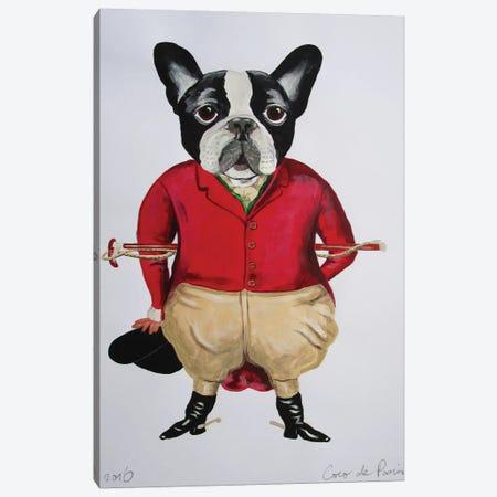 Vintage Bulldog Horse Driver Canvas Print #COC79} by Coco de Paris Canvas Print