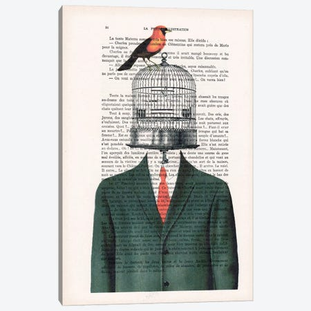 Birdcage Man Canvas Print #COC81} by Coco de Paris Canvas Wall Art