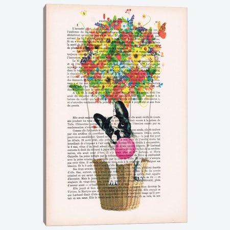 Bulldog In Flower Air Balloon Canvas Print #COC83} by Coco de Paris Canvas Art