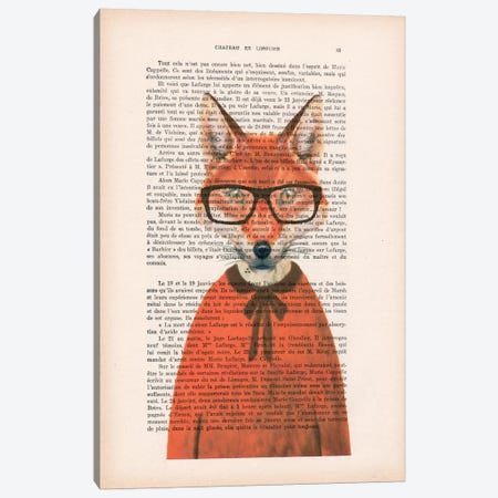 Clever Fox Canvas Print #COC86} by Coco de paris Art Print