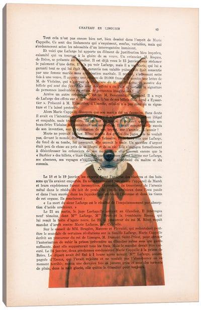 Vintage Paper Series: Clever Fox Canvas Print #COC86