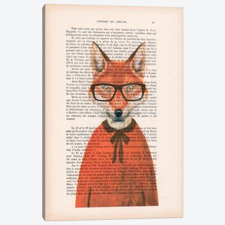 Clever Fox Canvas Print #COC86} by Coco de Paris Art Print