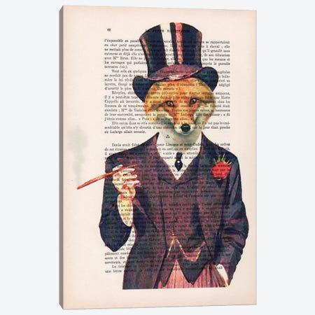 Dapper Fox Canvas Print #COC87} by Coco de Paris Art Print