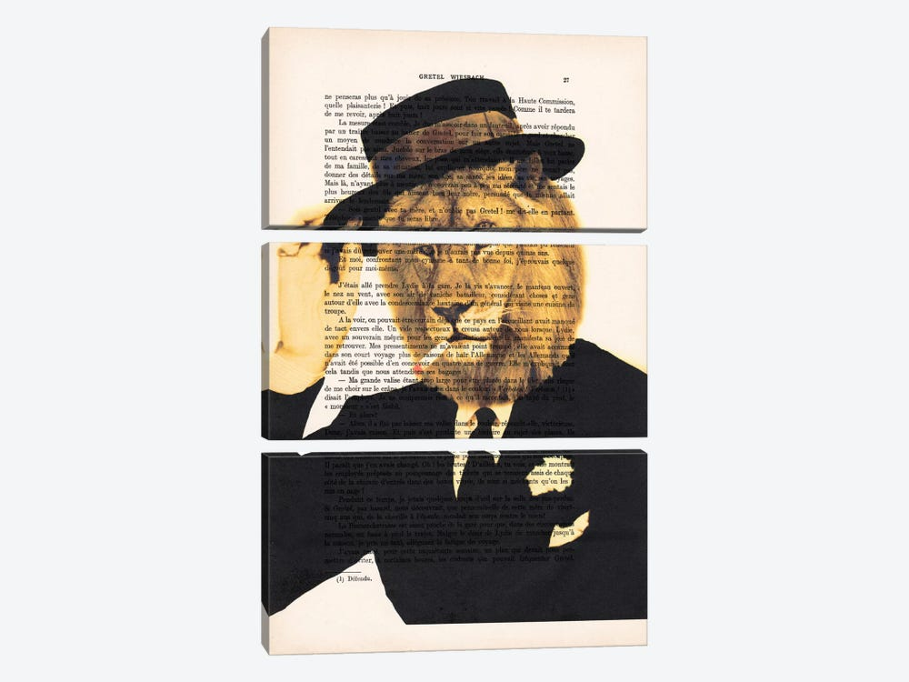 Dapper Lion by Coco de Paris 3-piece Canvas Artwork