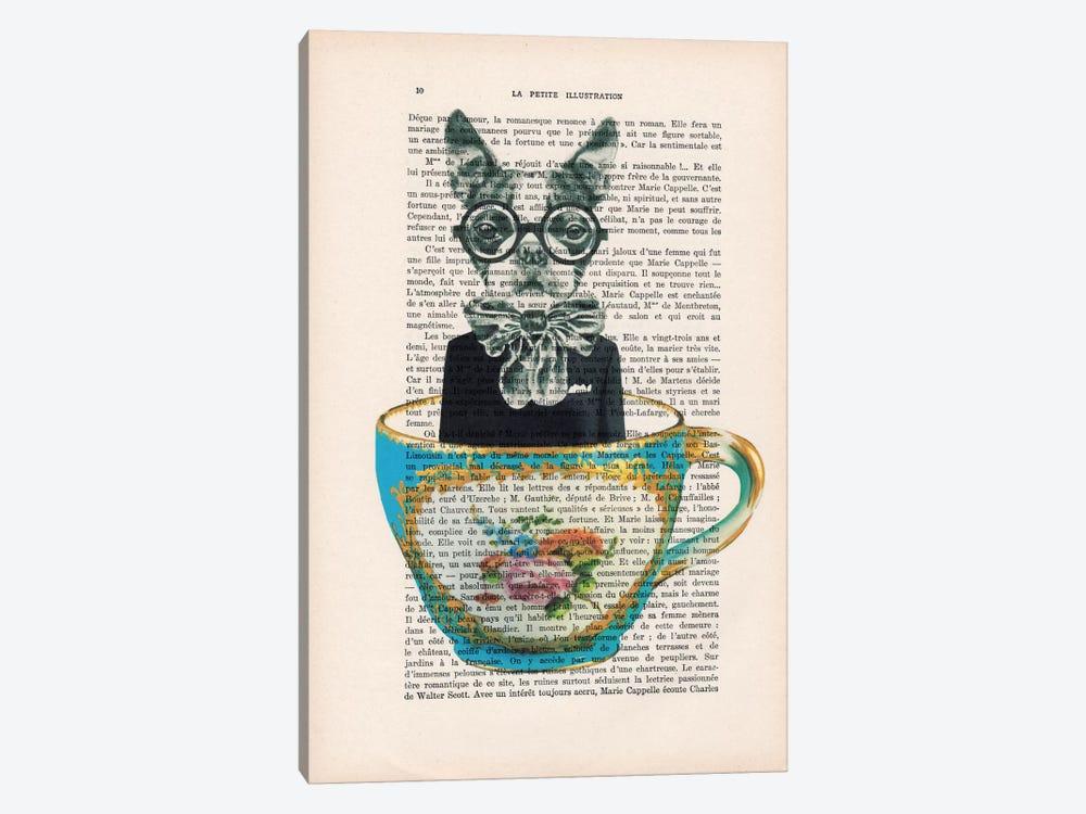 Dog In A Cup by Coco de Paris 1-piece Canvas Print