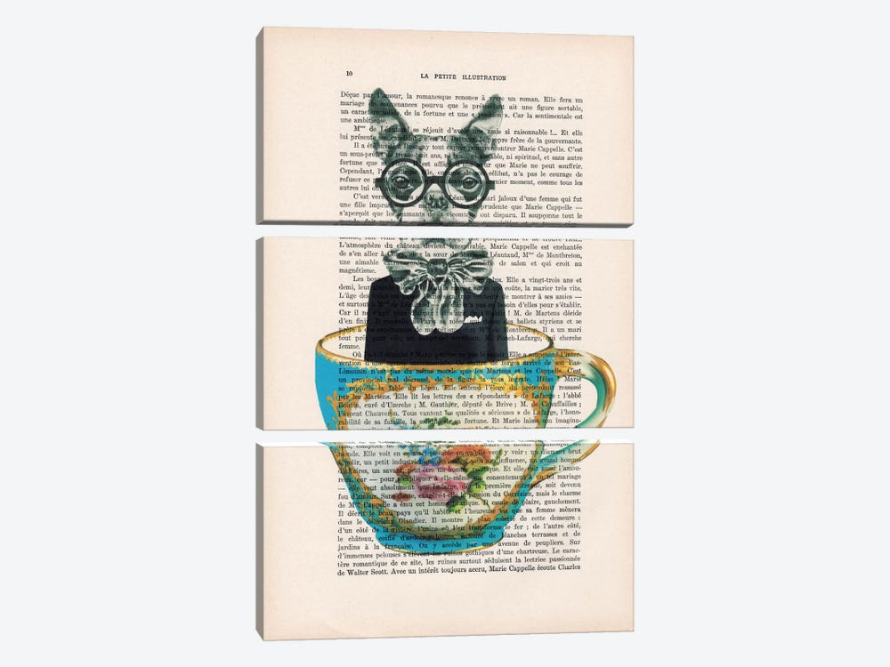 Dog In A Cup 3-piece Art Print