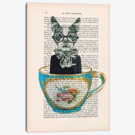 Dog In A Cup Canvas Print #COC90} by Coco de Paris Canvas Art Print