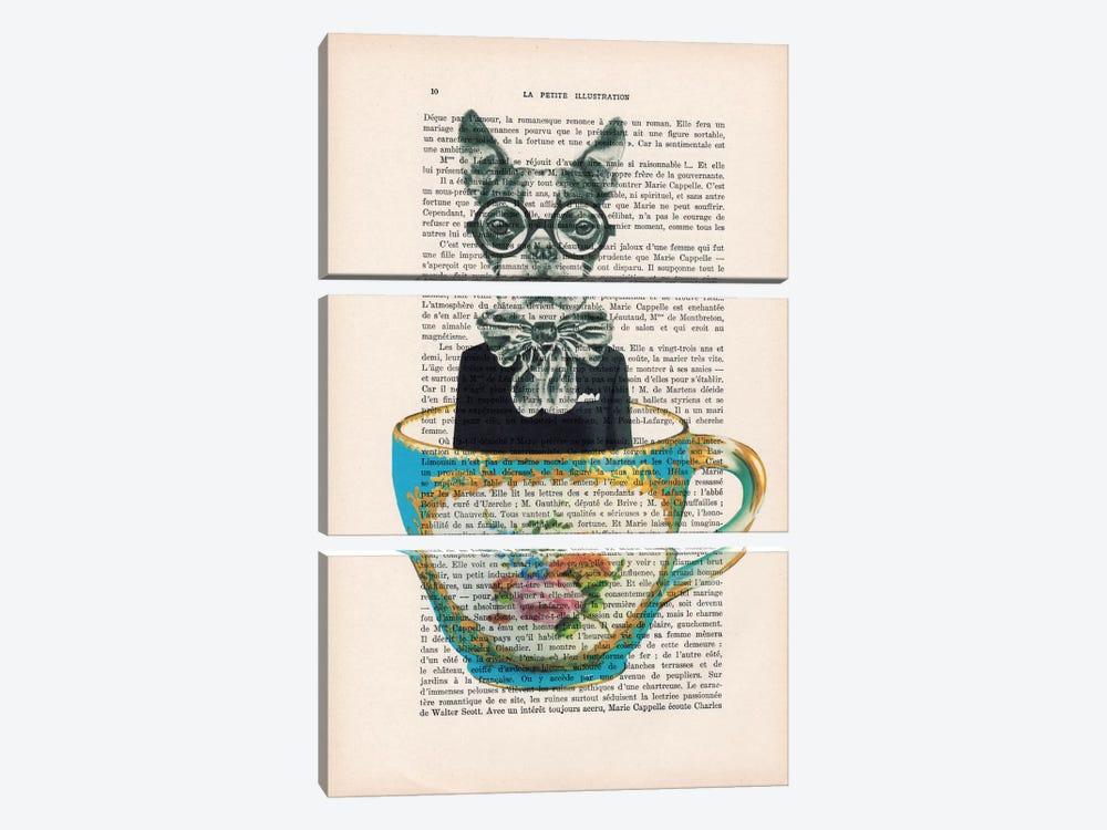 Dog In A Cup by Coco de Paris 3-piece Art Print