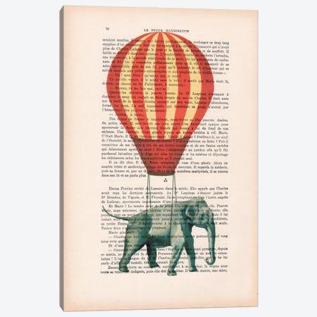 Elephant With Air Balloon Canvas Print #COC94} by Coco de Paris Canvas Art